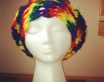 Rainbow Rasta Hat