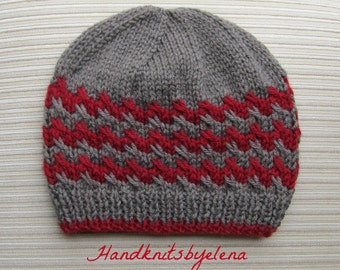 "Instant Download #199 Knitting Pattern Hat ""Victoria"" in Size Adult"