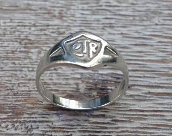 Vintage CTR Ring Signet Silver Ring Choose The Right LDS