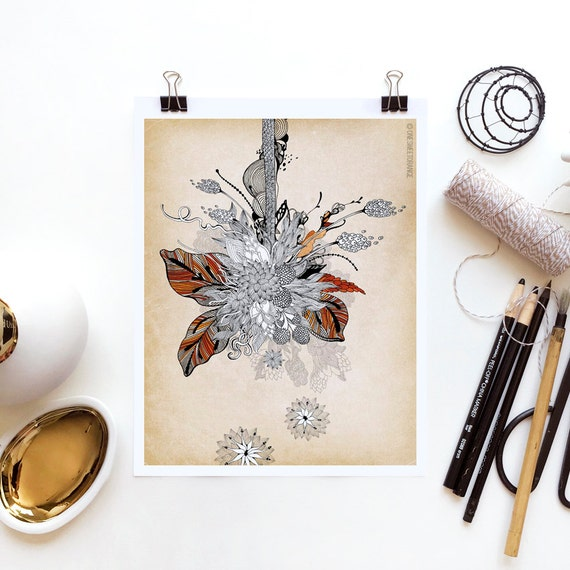Floral 2 by Iveta Abolina -  Floral Illustration Print