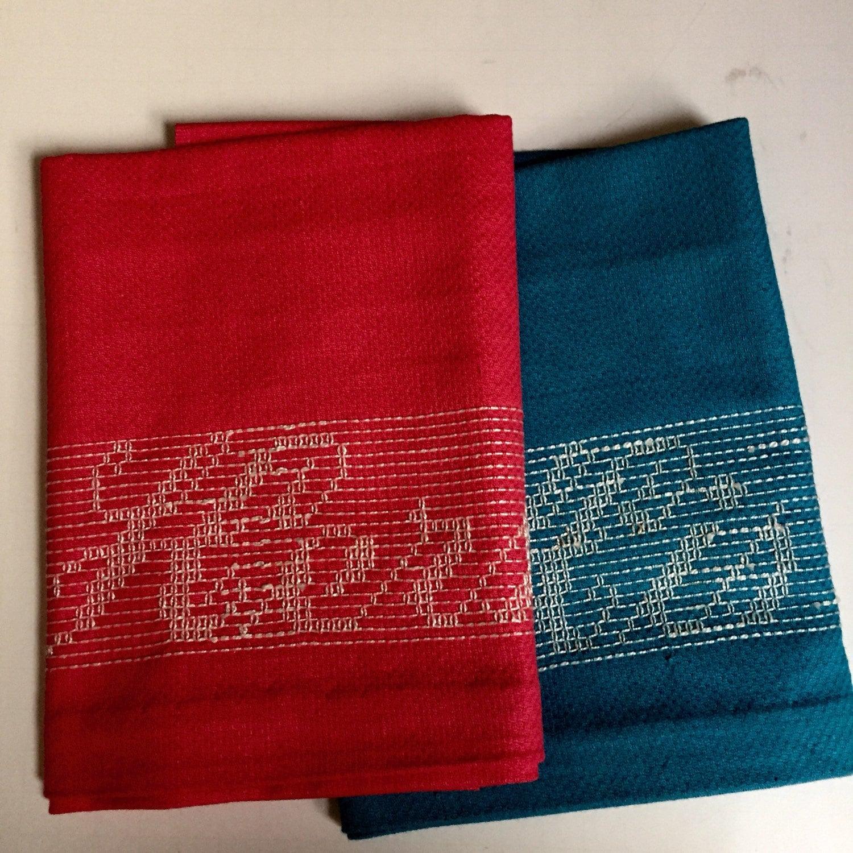 Vintage Towels: Vintage Embroidered His & Hers Towels