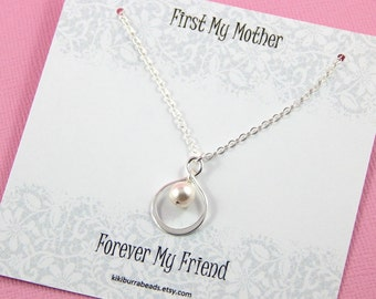 Mother Gift , Sterling Silver Infinity Necklace, Gift Boxed