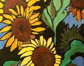 "Original Art - ""Sandy's Sunflowers"" - Acrylic 16X20"""