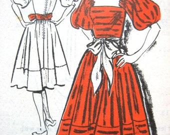 ON SALE Uncut Vintage Designer Sewing Pattern A528 Prominent Designer Jacke Fuller.  Bust 34 inches