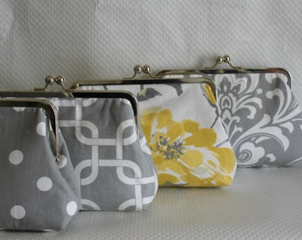 Wedding Clutches - Bridesmaids Clutches - Wedding Gifts - Bridesmaid Gifts - Bridal Clutch Set - Set of 4