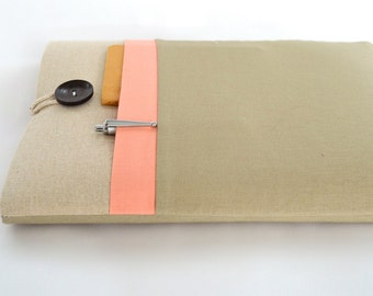 "13"", 14"" or 15.6"" Laptop Sleeve Case, 15"" MacBook Pro, Custom, Padded Laptop Case with Pocket - Color Block"