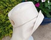 Sunhat in Cream Linen