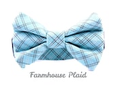 "Farmhouse Plaid Small Dog Collar, Fits Necks 10-14"", Ready to Ship"
