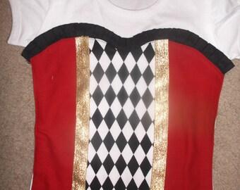 Girls Circus  Ring Master Corset Birthday Appliqued Shirt