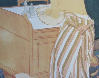 Mary Cassatt- Woman Bathing,1891, Color Plate/ Book Print/7 x 10 in