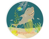 PLATE - Personalized Shark plate for kids