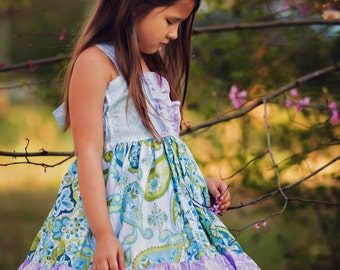 Girls Dreamy Spring Summer Sundress, sizes 3 months to 8 years, by SunLoveShirts