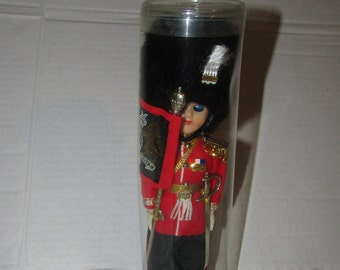 Vintage Hard Plastic  Boy DOLL Ethnic Travel Foreign Made in England Doll in Original Package