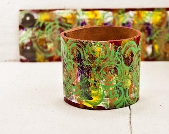 Nature Bracelet Summer Jewelry Wrist Cuff - Handpainted Eco Friendly Bracelets - Best of Etsy