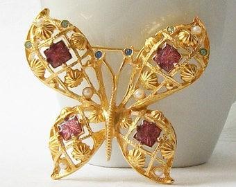 Vintage Avon Butterfly Brooch