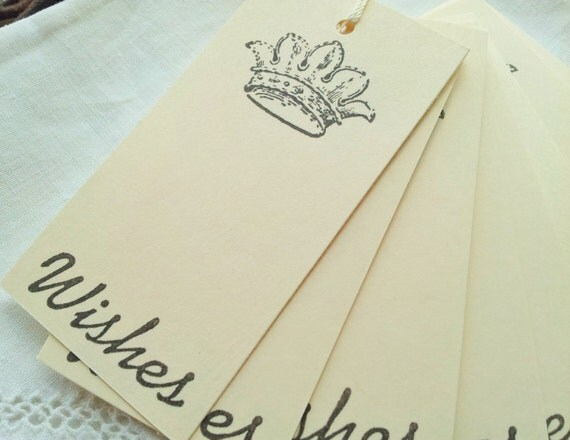 Mini Wedding Wish Tree Tags French Inspired Crown Set Of 25 From LazyDayCottage On Etsy Studio