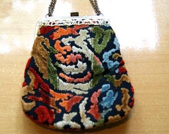 Textile Evening Bag  - Vintage
