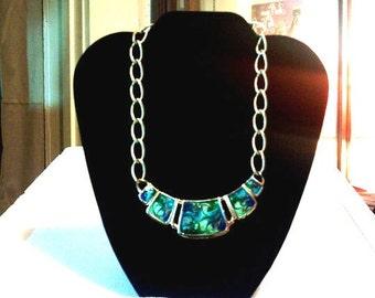 Vintage Paua Abalone Shell Necklace