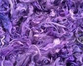 Suri Alpaca Fiber, 5 Inches, Mulberry, Hand-Dyed, 2 Ounces, Thunderstruck