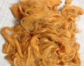 Suri Alpaca Fiber, 5 Inches, Citrus, Hand-Dyed, 2 Ounces, Ariella