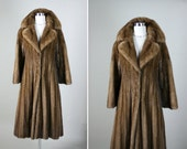 BILL BLASS Vintage Lunaraine Mink Brown Stunning Fur Coat L