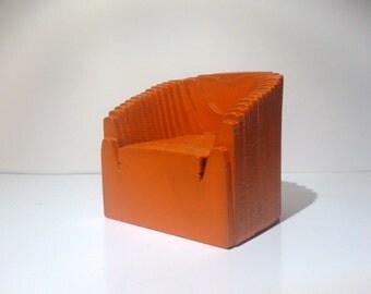 Modern retro designer armchair , 1/12 miniature for dollhouses