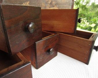 Vintage Sewing Machine Drawer Box Rustic Storage Wooden Box