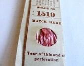 Antique 1904 Silk Embroidery Floss Belding Bros. Royal Floss Silk Medium Pink