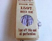 Antique 1904 Silk Embroidery Floss Belding Bros. Royal Floss Silk Violet