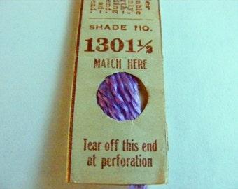 Antique 1904 Silk Embroidery Floss Belding Bros. Royal Floss Silk Thistle Purple