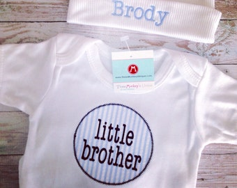little BROTHER coming home outfit or gift set