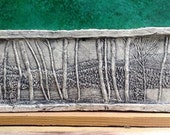 Birch Trees Ceramic Porcelain Relief Pottery Tile