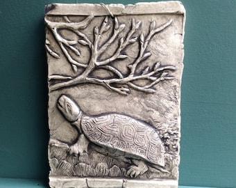 Turtle Ceramic Pottery Porcelain Relief Animal Tile