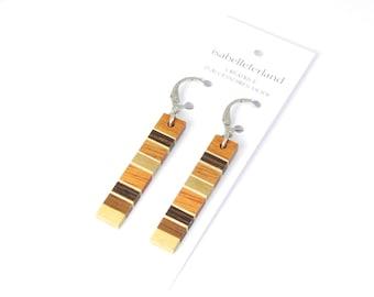 earrings / wood / handmade / stainless steel / isabelle ferland