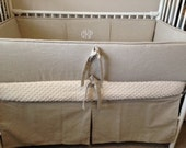 Baby bedding Crib set natural linen taupe neutral DEPOSIT only