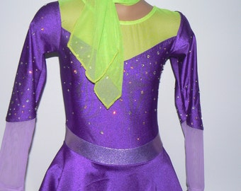 Scooby-Doo  Daphne Inspired Figure Skating Dress