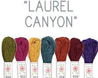 Sublime Stitching Embroidery Floss - Laurel Canyon -  Seven Skeins - Jewel Tones