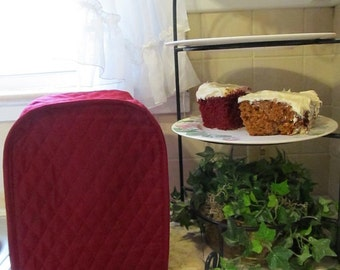 Burgundy Coffee Maker Cover Reversible Small