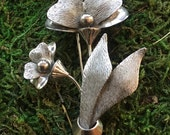 Carl Art Strerling Flower Pin