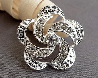Rhinestone Button Crystal Button Wholesale Button Bridal Brooch Bouquet Napkin Ring Jewelry Wedding Invitation Supplies BT603
