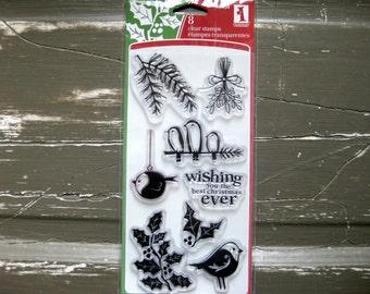 SUPPLY DESTASH - Inkadinkado - Cool Christmas - Noel Chic - Acrylic Stamp Set