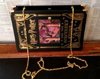 Book Clutch Harry Potter and the Sorcerer's Stone Fantasy Book Purse Made to Order