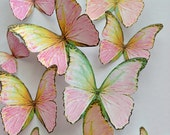 pink WALL DECORATION - 3D decorative butterflies - wall decoration - butterfly embellishment - 3D butterflies wall art by Uniqdots on Etsy