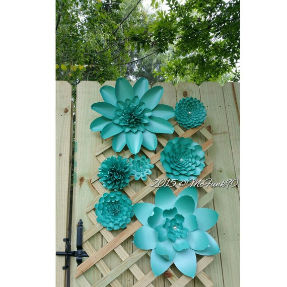 Weddings Large Paper Flowers Bluish Green Ready To By Mcfunk90