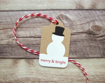 Rustic Snowman Gift Tags, Rustic Christmas Tags, Snowman Tag, Snowman Christmas Present Tag, Snowman Tag,