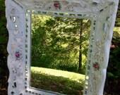 Mosaic Rose Shabby Chic Mirror