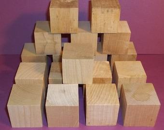 18 wood blocks-- READY TO PAINT