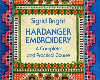 Hardanger Embroidery Pulled Thread Lace Complete Practical Course Square Open Work Blocks Learn How to Make Do Craft Pattern Book