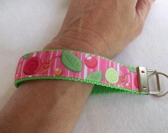 SALE - Silly Snails Colorful Key Fob / Key Wristlet
