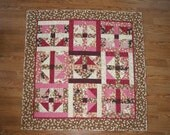 Apple Blossom Lap Quilt 53 x 53 inches